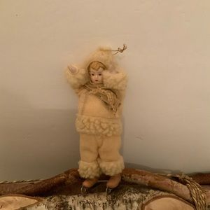 Other - Antique looking old fashion ice skater ornament.